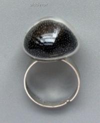Перстень Заветное колечко, малое черное R028-3