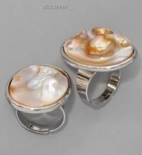 Перстень Жемчужина перламутр R026-4