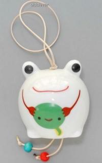 Колокольчик Лягушечка, фарфор K008