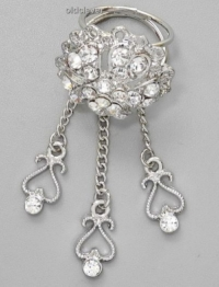 Кольцо для платка с подвесками BS044-1