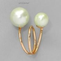 Кольцо Диор, зеленое R038-2