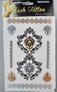 Татушки-обережки (серебро+золото+черное) OB034-6