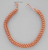 Медный браслет,плетение Елочка MB050-1