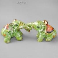 Сувенир Пара слоников (зеленые) SK009-1
