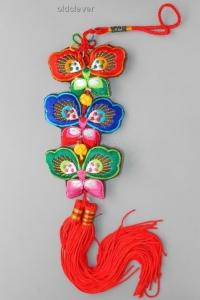 Подвеска Три Бабочки, ткань KP001-1