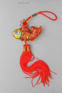 Подвеска Золотая Рыбка, ткань KP001-2
