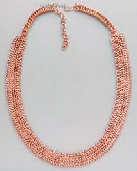 Гривна-колье (прямая),кольчужное плетение MГ003-1