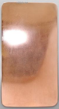 Пластина прямоугольная,медь P011m