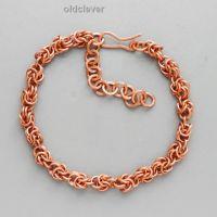 Медный браслет,плетение Орешек MB056