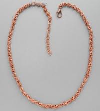 Медная цепь,плетение Орех MГ002-1