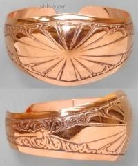 Медный браслет Ярило, средний MB029-1