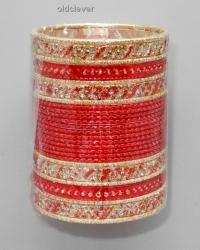 Набор браслетов Деви красный BR081