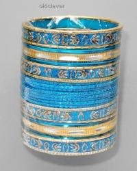 Набор браслетов Деви голубой BR081-1