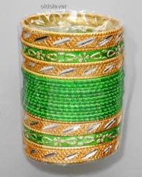 Набор браслетов Деви зеленый BR081-2