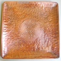 Тарелка сувенирная медная квадратная МD014