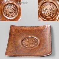 Тарелка сувенирная медная квадратная МD018