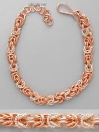 Медный плетеный браслет Рококо MB074-1